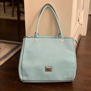 Gussaci Collection Baby Blue Shoulder Tote Bag